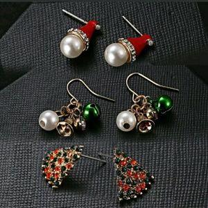 Set of Christmas Earrings